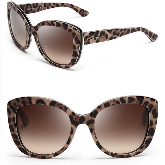 5945b17b4fa Dolce   Gabbana Animalier 53mm Cat Eye Sunglasses